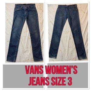 Vans Super Skinny Jeans SZ 3 short rise distressed